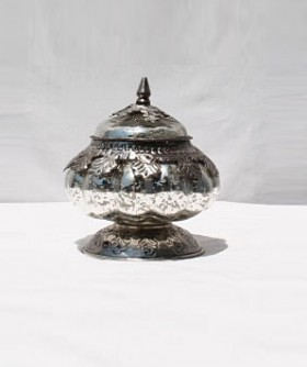 Antic Mirror Jar With Lid 11 x 11 cm SW060