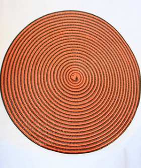 Orange & Brown Spiral Grass Place Mat 35 cm PM009