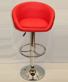 Red Leather Curve Cocktail Chair 80 x 50 cm CC009