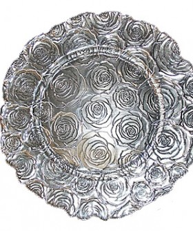 Rose Glass Side Under Plate 20 cm BP029