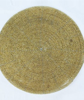 Round Gold Beaded Place Mat 32 cm PM011