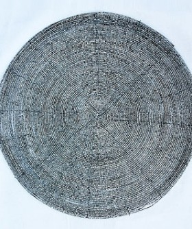 Round Silver Beaded Place Mat 32 cm PM012