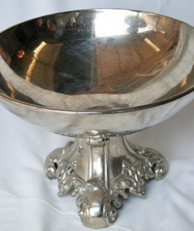 Silver Antique Fruit Bowl 30 x 40 cm SW007
