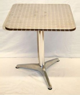 Silver SQ Cafe Table 70 x 70 cm CT004
