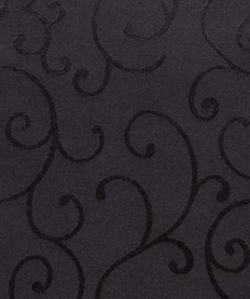 Square Black Twirl Pattern Table Cloth 3m TB017