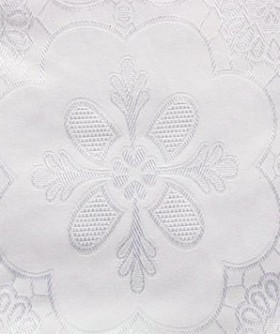 Square White Large Floral Pattern Table Cloth 3m TB013