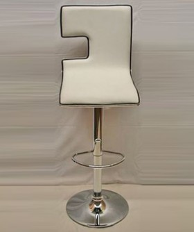 White Leather Square Cocktail Chair 80 x 45 cm CC007