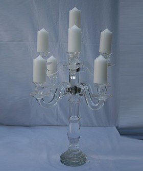 9 Arm Glass Candelabra 51 x 42 cm CL100