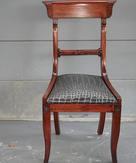Antique Black Seat Dining Chair 074