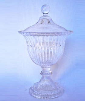 Casablanca Crystal Vase With Lid 30 cm MR001