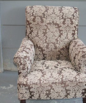 Coffee Cream Pattened Wingback 064