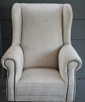 Cream Wingback Chair 062