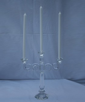 Crystal 3 Arm Candelabra 38 x 33 cm CL102