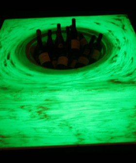 Dark Green Champagne/ Wine Cooler Table LC004