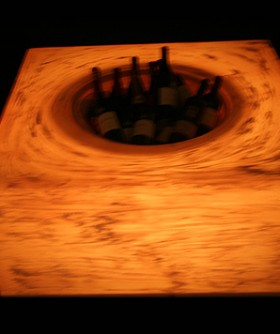 Dark Orange Champagne/ Wine Cooler Table LC004