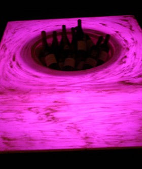 Dark Pink Champagne/ Wine Cooler Table LC004