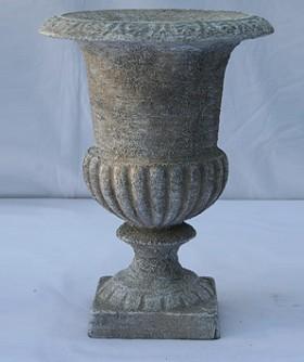 French Grey Pottery Urn 24 x 18 cm URN004