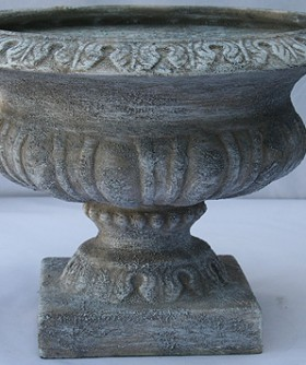 French Grey Pottery Urn 24 x 32 cm URN001