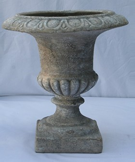 French Grey Pottery Urn 29 x 28 cm URN002