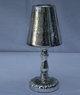 Glass Mirror Lamp Shade Tea Light Holder 28 x 11 cm CL106