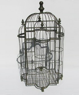 Large Green Wrought Iron Bird Cage 70 x 30 cm DA032