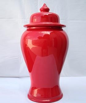 Large Red Ginger Jar 60 x 28 cm GV008