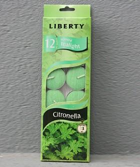 Liberty- Citronella Man Lib T Lights 12 pkt 3 hrs 14616
