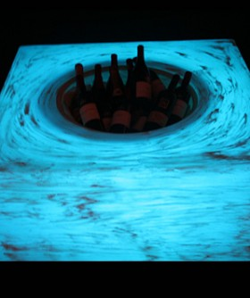 Light Blue Champagne/ Wine Cooler Table LC004