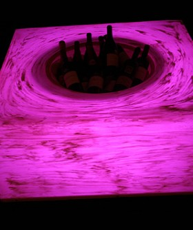 Light Pink Champagne/ Wine Cooler Table LC004