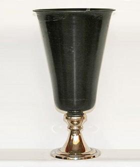 Medium Black Flute Metal Vase 36 x 20 cm BMV002