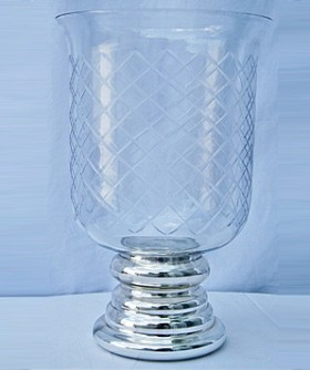 Medium Foiled Hurricane Lamp 20 x 30 cm CL091