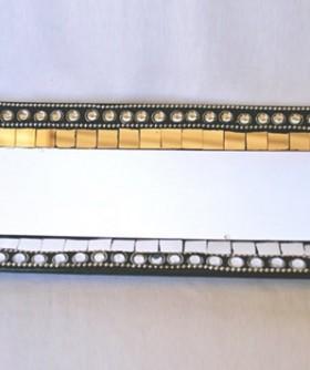 Rectangular Silver Mosaic Plate 32 x 14 cm MR009
