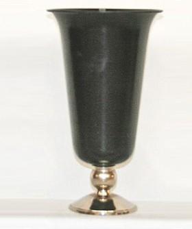 Small Black Flute Metal Vase 29 x 17 cm BMV003