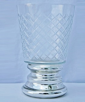Small Foiled Hurricane Lamp 13 x 19 cm CL093