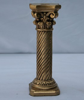 Small Gold Pillar Candle Holder 21 x 7 cm GLD004
