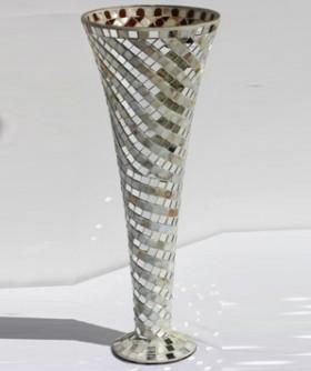 Tall Silver Pearl Vase 50 x 16 cm MR012