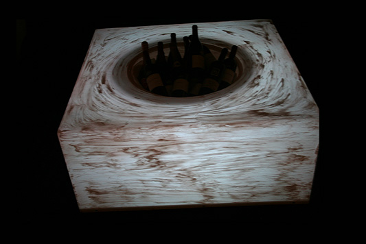 White Champagne/ Wine Cooler Table LC004