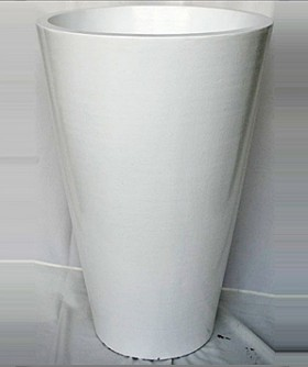 X Large Round White French Pot 95 x 60 cm PL005