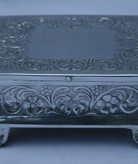 X-Small Square Silver Cake Stand 15 x 8 cm SW085
